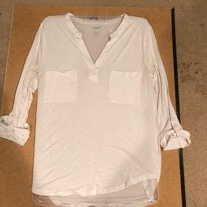 Old Navy white long sleeve shirt